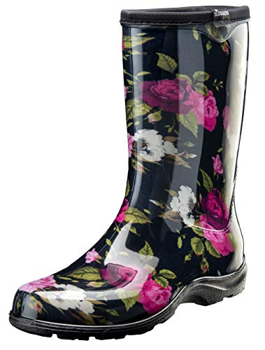 Sloggers Women's Waterproof Rain and Garden Boot with Comfort Insole (9, Roses)