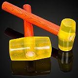 ¡PC 1!Martillo de goma multifuncional, martillo de tendón con mango de madera de 120 mm para reparar herramientas de mano domésticas, modelo 2000