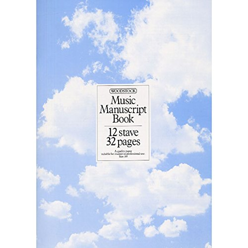 Woodstock Music Manuscript Paper: 12 Stave - 32 pages (A4 Stitched)