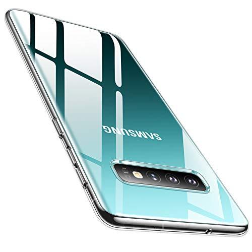 TORRAS Crystal Clear Kompatibel mit Samsung Galaxy S10 Hülle, Transparent Vergilbungsfrei Dünn Slim Weiche Silikon Case Durchsichtige Schutzhülle Handyhülle für Samsung Galaxy S10 - Transparent