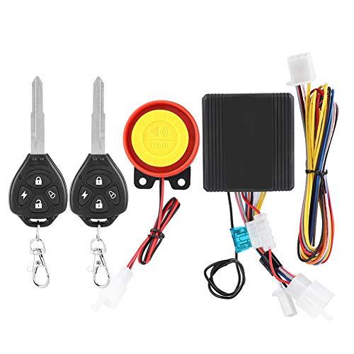 Allarme per moto, sistema di allarme di sicurezza antifurto senza fili universale per moto 12V con 2...