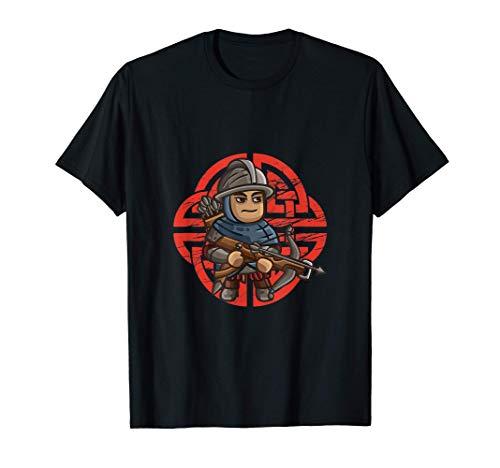 Antik Armbrust Soldat Mittelalter Krieger Bogenschießen T-Shirt