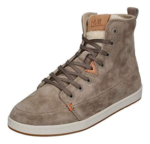 Hub Damen Schnür-Boots Keystone V34 Grau Rauleder 40
