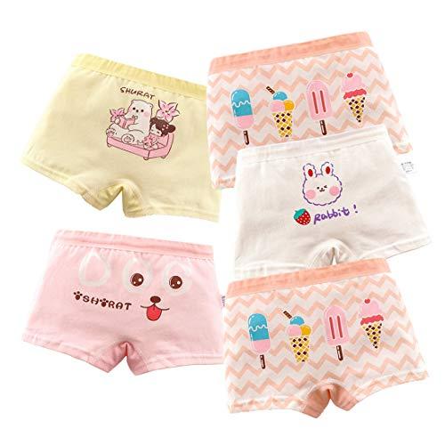 MiSense 5er Pack Mädchen Unterhosen Baumwolle Unterwäsche Maedchen Boxershorts für 2-11 Jahre(8-9 Jahre,AT003XL)
