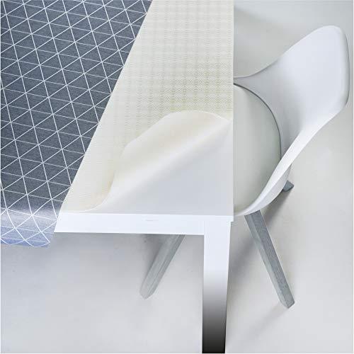 LILENO HOME Molton Tischpolster als Tischdeckenunterlage in weiß (110 x 160cm) - wasserdichte u. rutschfeste Tischunterlage als idealer Schutz für Tisch - Unterlage eckig für alle Tischdecken