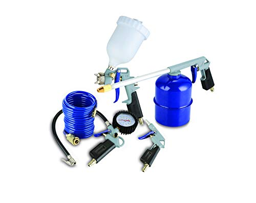 Michelin CAKITMICHELIN - Kit de aire profesional 5 pzs. (pistolas de pintar, soplar, petrolear, lavar y espiral)