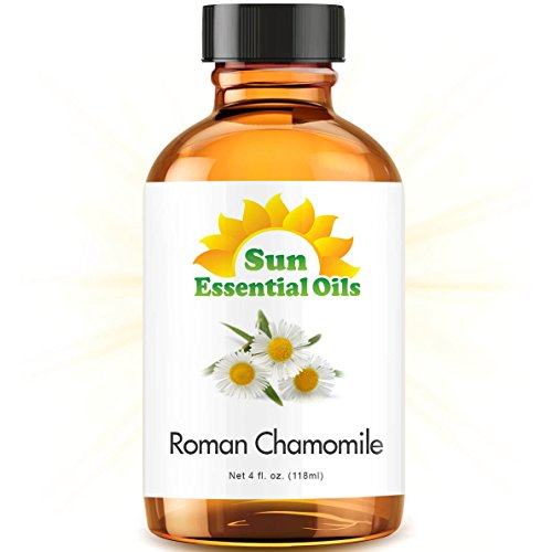 Roman Chamomile Essential Oil (Huge 4oz Bottle) Bulk Roman Chamomile Oil - 4 Ounce