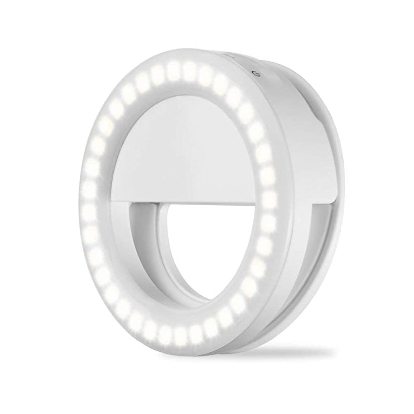 Selfie Ring Light for Camera 36 LED Light for iPhone iPad Tablet Laptop Camera Sumsung Galaxy Photography Phones, Rechargable Battery,White