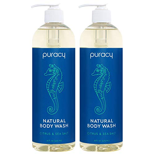 Puracy Natural Body Wash, Citrus & Sea Salt, Bath & Shower Gel