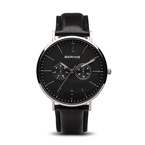 BERING Herren-Armbanduhr Analog Quarz Leder 14240-402