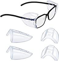 2/4/6/10 Pairs Glasses Side Shields,Safety Glasses Side Shields Eye Protection
