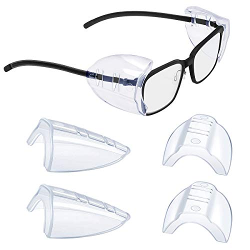 2/4/6/10 Pairs Glasses Side Shields for Eye Glasses,Safety Glasses with Side for Eye Protection-Fits Small to Medium Eyeglasses (2)