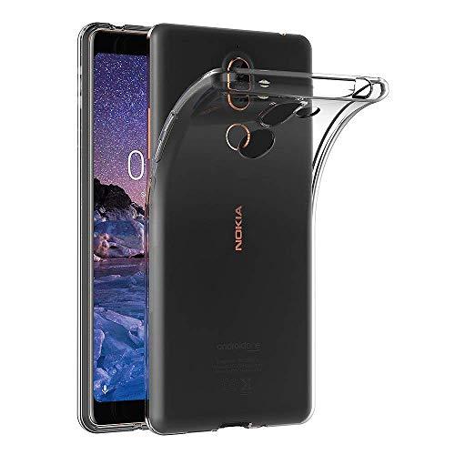 Hoesje voor Nokia 7 Plus (6 inch Scherm) MaiJin Schokbestendige Hoes Gemaakt van Doorzichtig Shock Proof TPU Siliconen