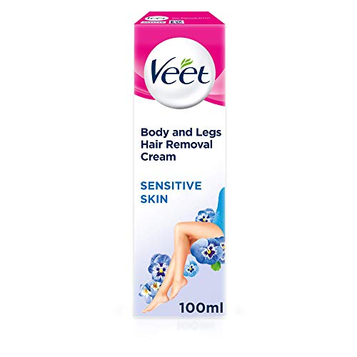 Veet Hair Removal Cream Sensitive Skin with Aloe Vera & Vitamin E (100ml)