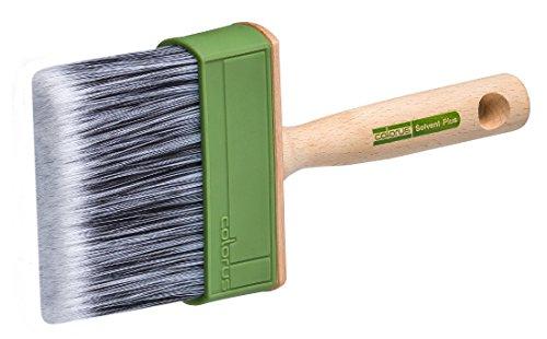 Colorus High Premium Flächenstreicher 3 x 10 cm | Lack-Malerpinsel Solvent für Wandfarben und wasserbasierte Anstrichmedien | Flächenstreicher-Pinsel für großflächige Beschichtungen