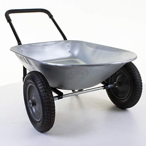 Marko Tools Colorado 2 Wheel 150KG Wheelbarrow Construction Garden Cart Transport Galvanised Tray...