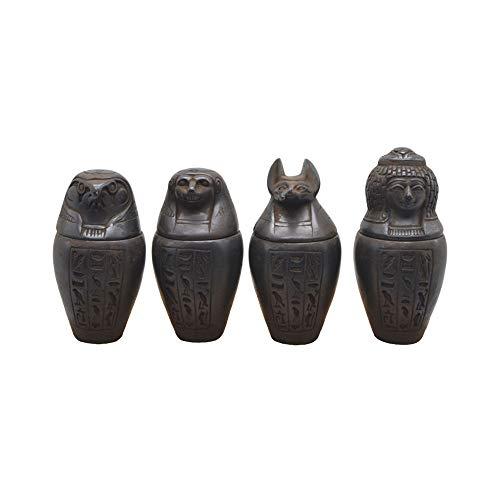 4 Vasos canopes Marrones de Piedra Artificial mezclada con Piedra Natural. Están...