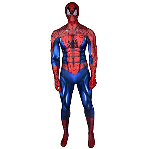ZYZQ Ultimate Spider-Man Body Supsuit The Avengers Superhroe Cosplay Disfraces Halloween Spiderman Fantasa Onesies Unisex Adultos Nios,Blue-Men~S(155~160cm)