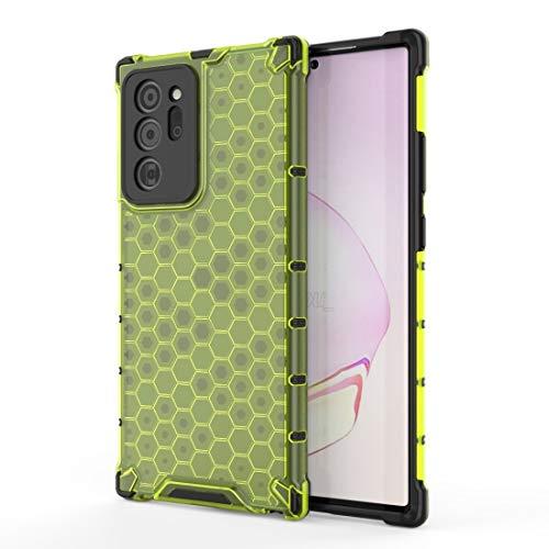 PHONETABLETCASE+ / for Compatible with Samsung Galaxy Note20 Ultra a Prueba de choques PC de Panal PC + Funda Protectora TPU,Protección de la Cubierta de la Cubierta a Prueba (Color : Green)