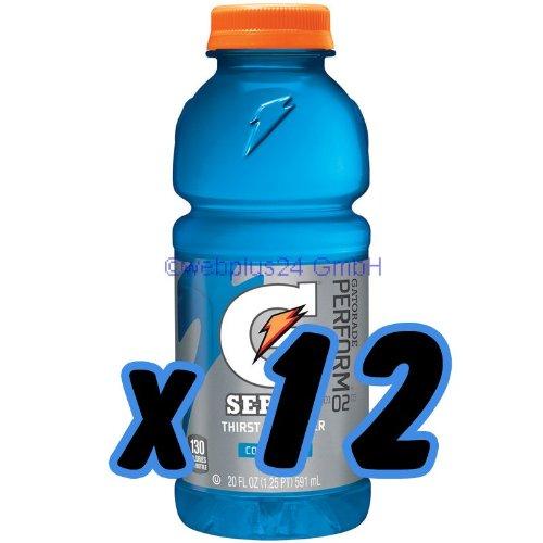 Gatorade Cool Blue 20 oz. (591 mL) - 12 Pack
