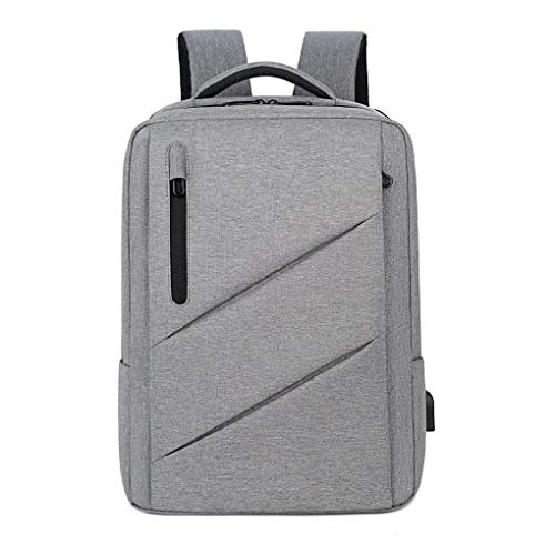 Computer Bag Student Backpack Shoulder Bag Large Capacity Multi-Functional Waterproof Bag,Light Grey,17-Inch