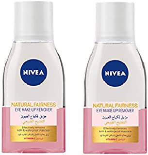 NIVEA, Face, Cleanser, Natural Fariness Eye Makeup Remover, 2 x 125ml