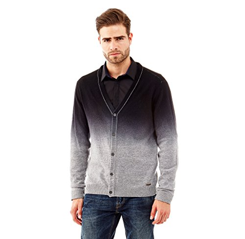 Guess Pull Cardigan Hector Gris - Taille - L