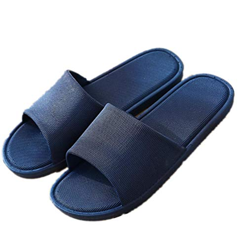 KIKIGO Zapatillas Piscina Mujer,En Verano, Use Zapatillas de baño y Zapatillas Antideslizantes para la casa de los Hombres.-Azul Marino_EU 41