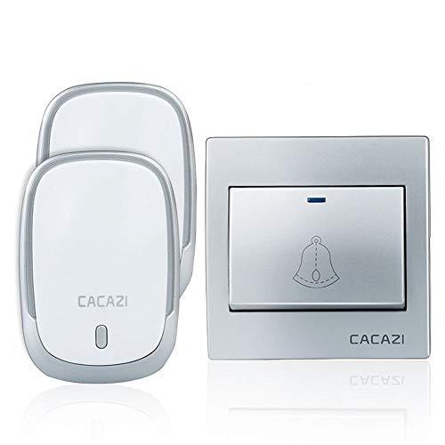 Yhui bel Smart Wireless Waterdichte bel 300 m batterij met afstandsbediening LED licht huis draadloze bel 36 bellen 4 volume EU Plug ingang deurbel