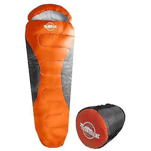 WIBERTA(ウィベルタ) 寝袋 シュラフ コンパクト スリーピングバッグ 軽量 マミー型 丸洗い可能 収納袋付き ...