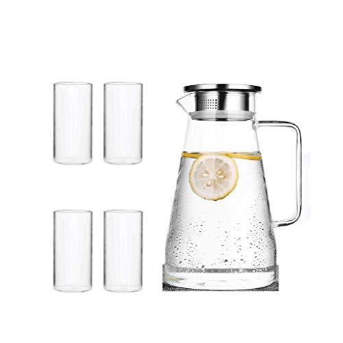 Koude ketel, 4 kopjes, hittebestendig, theepot, twee-weg filtratie, genieten van het leven, gezond drinkwater, grote capaciteit JXLBB 1.5L