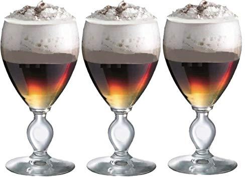Durobor Set mit 6 Irish Coffee Gläsern Stielglas Wein Kaffee Gläser