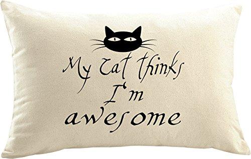 Mister Merchandise kussensloop kussensloop kat kattenmoeder kattenliefhebbers Ik en mijn kat