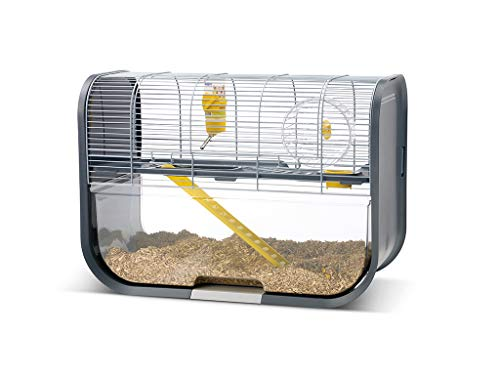 Savic Moderner Hamsterkäfig Geneva grau
