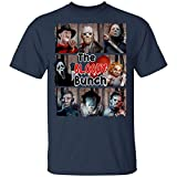 The Bloody Bunch Michael Myers Leatherfaces Freddy Jason Horror Movies Halloween Unisex T-Shirt Navy