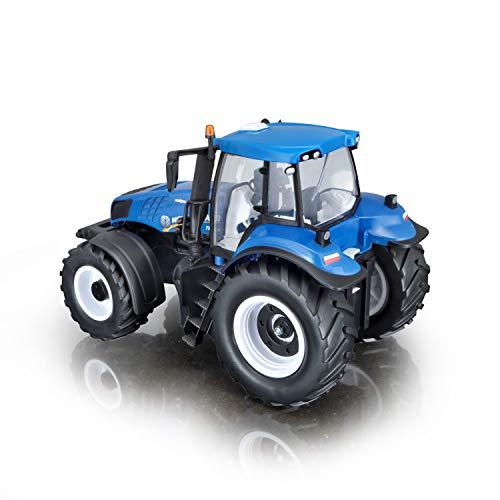 RC Auto kaufen Traktor Bild 4: Maisto Tech R/C New Holland Traktor T8.320: Ferngesteuerter Traktor mit Licht, Maßstab 1:16, mit Stick-Controller, ab 8 Jahren, 35 cm, blau (582026)*