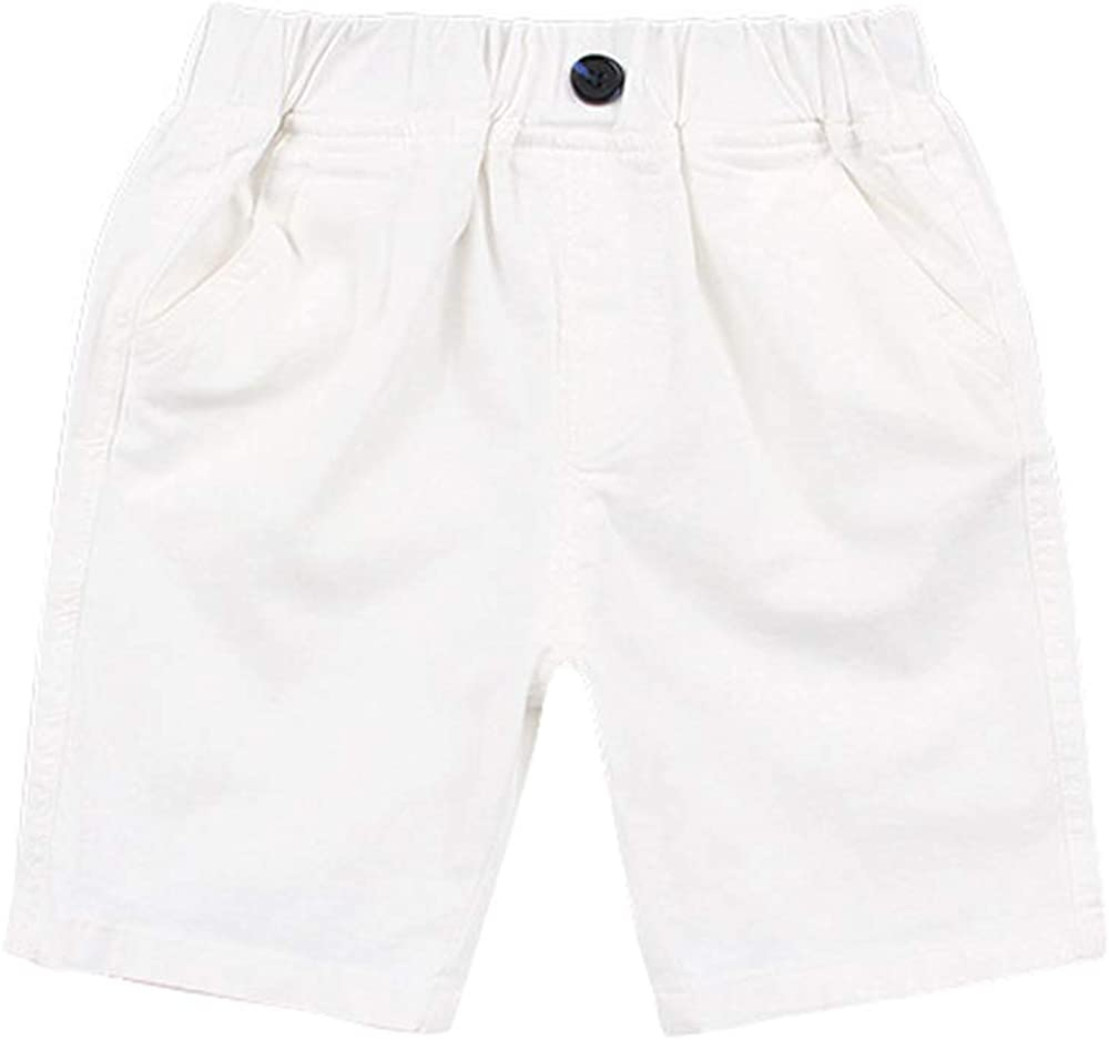 Ding Dong Toddler Kid Boy Summer Solid Cotton Casual Shorts