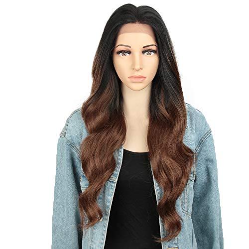 Style Icon Lace Front Perücken Wigs 66cm 13x4 Spitze Perücke Lang Wellige Synthetische Perücken Für Frauen Tief Teil Hitzebeständige Fasern Spitze Front