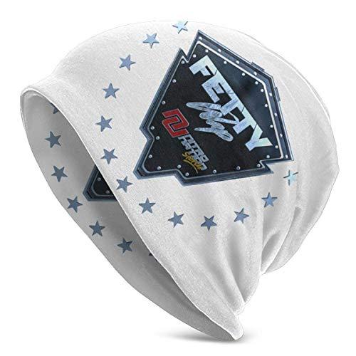Fetty WAP Skull Caps Sombrero de Punto para Adultos Casual Unisex Moda cálido Sombrero Suave Cómodo Invierno Negro