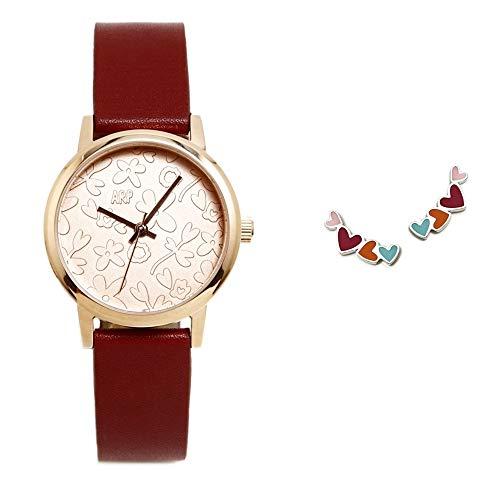 Set Agatha Ruiz de la Prada Uhr Silber Ohrringe Sterling AGR283 Burgunder Farben Herzen 925m - Modell: AGR283