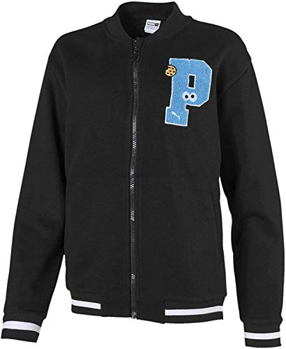 Puma Sesame Street Bomber Jacket TR G, Giacca Tuta Bambina, Black, 110