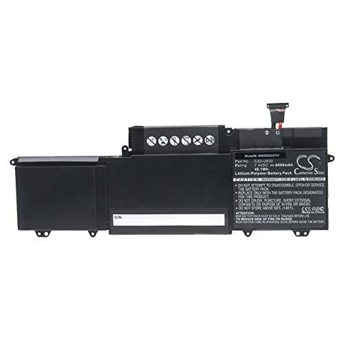 vhbw Batería reemplaza ASUS 0B200-00070000, 0B200-00070100, C23-UX32 para Notebook (6500mAh 7,4V polímero...