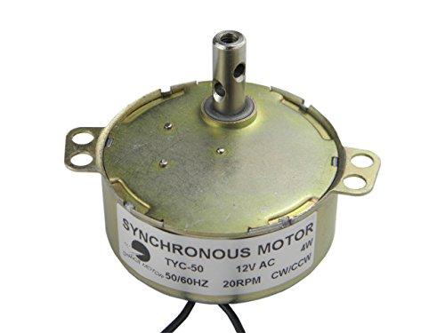 Synchronmotor TYC-50 AC 12V 20-24RPM CW/CCW Drehmoment 4W Power Elektrischer Synchronmotor Drehtischmotor Synchronmotor