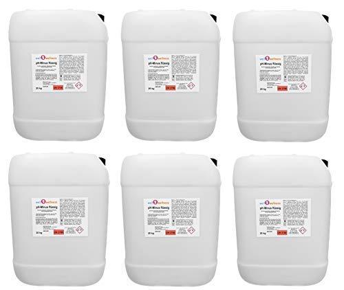 well2wellness pH Minus flüssig/pH Senker flüssig - 6 x 25 kg Kanister