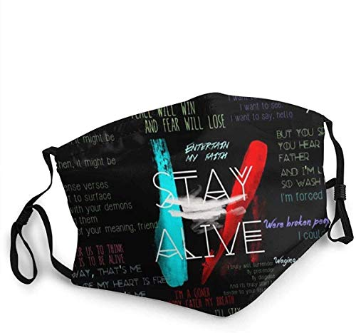 Tw-enty One Pi-Lots Unisex 3D-Druck Sturmhaube Wiederverwendbare Sturmhaube Bandana für Unisex Masking Tape