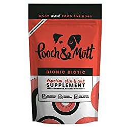 Health supplement for dog digestion Helps reduce itching and scratching Provides nutrients for coat growth and healthy skin Actively promotes solid stools and healthy digestion Optimum weight Good digestion and immunity A small, ethical, award winnin...