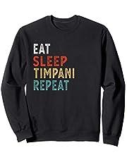 Vintage Eat Sleep Timpani Repeat Funny Timpani player music Sudadera