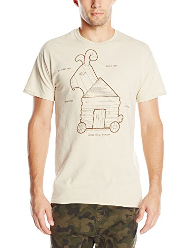 Liquid Blue Men's Monty Python-Trojan Rabbit T-Shirt, Sand, X-Large