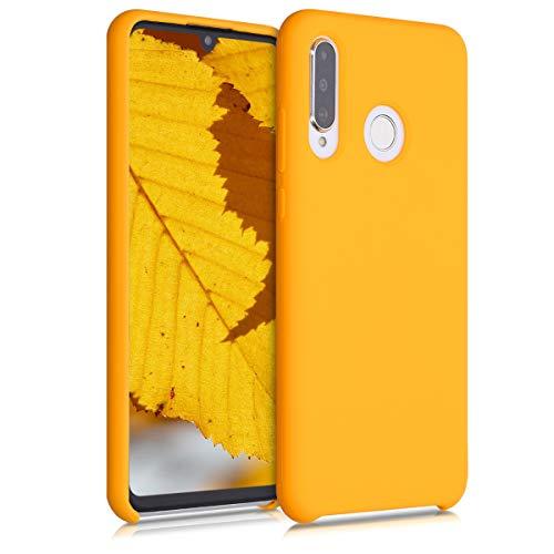 kwmobile Cover Compatibile con Huawei P30 Lite - Custodia in Silicone TPU - Back Case Protezione Cellulare Giallo Zafferano
