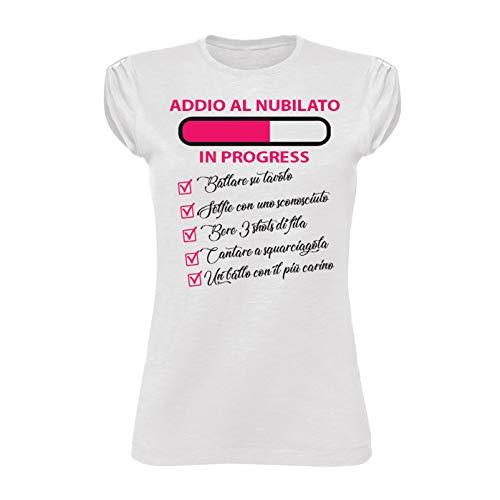 Altra Marca T-Shirt Donna Maglietta per Addii al Nubilato Personalizzata Futura Sposa Anello